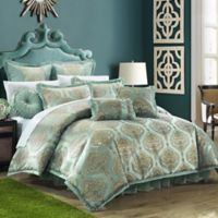 Chic Home Ricci 9-Piece King Comforter Set in Blue