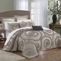 Chic Home Rosalinda 11-Piece Queen Comforter Set in Taupe