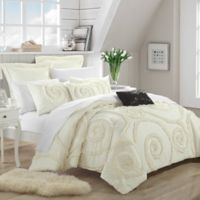 Chic Home Rosalinda 7-Piece Queen Comforter Set in Beige