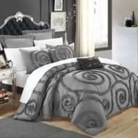Chic Home Rosalinda 7-Piece King Comforter Set in Grey