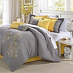 Chic Home Sakura 8-Piece King Comforter Set in Yellow