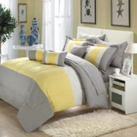 Chic Home Sebastian 10-Piece King Comforter Set in Yellow