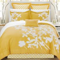 Chic Home Sire 11-Piece Reversible King Comforter Set in Yellow