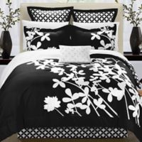 Chic Home Sire 11-Piece Reversible Queen Comforter Set in Black