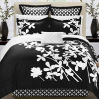 Chic Home Sire 7-Piece Reversible Queen Comforter Set in Black