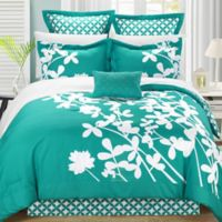 Chic Home Sire 7-Piece Reversible Queen Comforter Set in Turquoise
