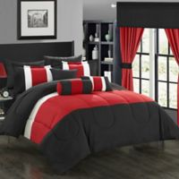 Chic Home Wanstead 20-Piece King Comforter Set in Red