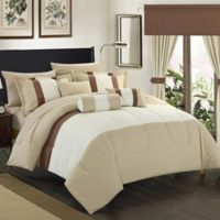 Chic Home Wanstead 20-Piece Queen Comforter Set in Beige