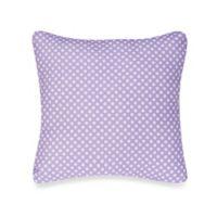 Glenna Jean Lilly & Flo Polka Dot Throw Pillow in Purple