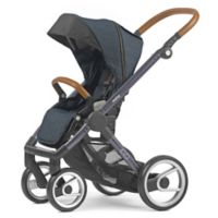 Mutsy Evo Industrial Stroller in Blue/Dark Grey