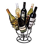 Oenophilia 6-Bottle Bouquet Wine RackBlack Finish