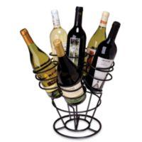 Oenophilia 6-Bottle Bouquet Wine RackBlack Finish