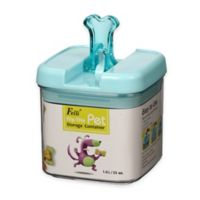 Flip-Tite Bone Square Food Storage Canister in Clear/Blue
