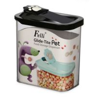 Glide-Tite Rectangular Small Pet Food Storage Container in Black