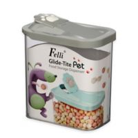 Glide-Tite Rectangular Small Pet Food Storage Container in Grey