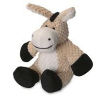 goDog® Small Checkers Donkey Pet Toy with Chew Guard™ in Tan