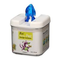 Flip-Tite Fish Square Food Storage Canister in Clear/Blue