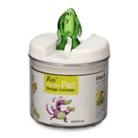 Flip-Tite Fish Round Food Storage Canister in Clear/Pear