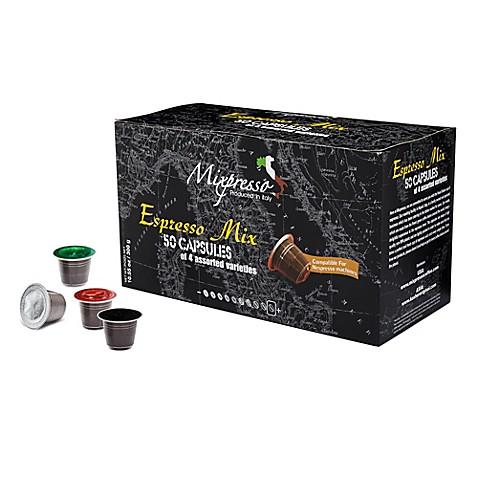 mixpresso 50 count espresso mix nespresso compatible coffee capsules bed bath beyond. Black Bedroom Furniture Sets. Home Design Ideas