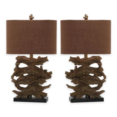 Safavieh Forester Resin Table Lamps In Brown (Set Of 2)
