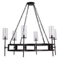 Safavieh Sunnycrest 6-Light Pendant Chandelier in Bronze