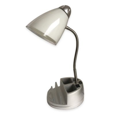 Equip Your E Functional Tablet Organizer Desk Lamp With Cfl Bulb In White
