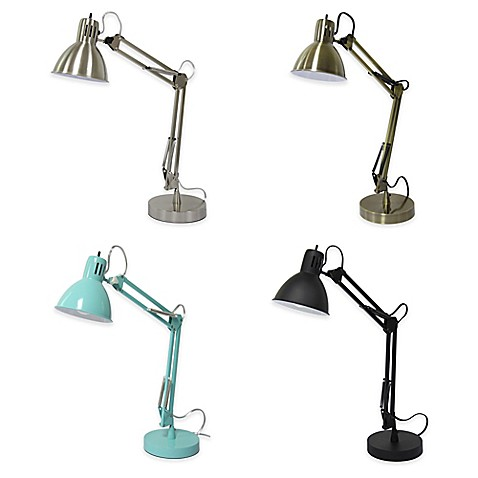 Equip Your Space Architect Desk Lamp With Cfl Bulb And Usb