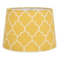 Flocked Linen Medium 9-Inch Lamp Shade in Yellow/White