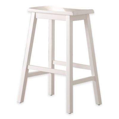 Wood Saddle 29-Inch Barstool in White  sc 1 st  Bed Bath u0026 Beyond & Buy Saddle Bar Stools from Bed Bath u0026 Beyond islam-shia.org