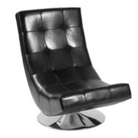 Delan Swivel Chair in Black