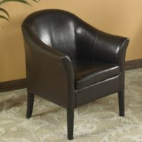 Vivo Leather Club Chair in Brown