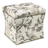 Skyline Furniture Nail Button Storage Ottoman in Roberta Winter