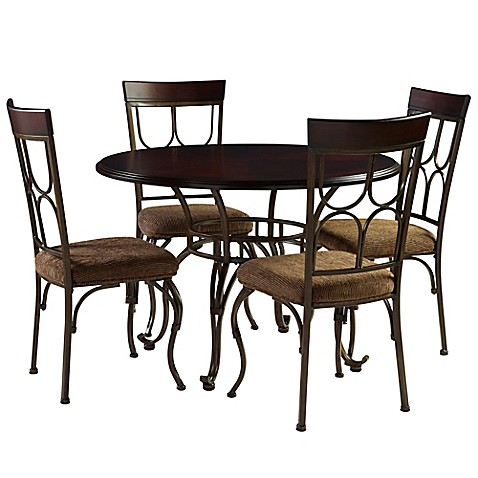 Ay 5 Piece Coleman Dining Set In Espresso Bed Bath Beyond