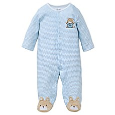 Little Me® Chevron Bear Footie
