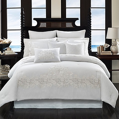 Tommy Bahama  Heirloom Embroidery Comforter Set in Coconut. Tommy Bahama  Heirloom Embroidery Comforter Set in Coconut   Bed