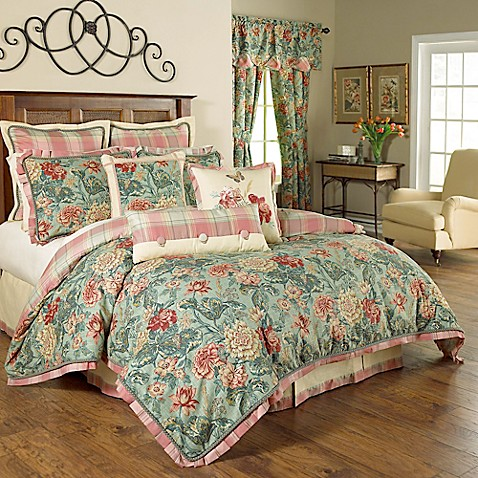 Waverly 174 Sonnet Sublime Reversible Comforter Set In Jewel