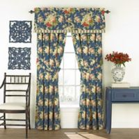 Waverly® Sanctuary Rose Rod Pocket Valance in Blue