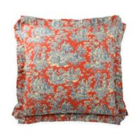 Waverly® Sanctuary Rose European Pillow Sham in Blue