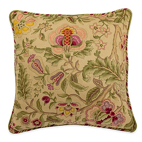 Waverly® Imperial Dress 18-Inch Square Throw Pillow in Antique - Bed ...