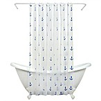 India Ink Anchors PEVA Shower Curtain