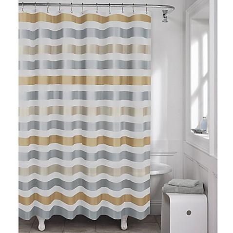 Maytax Dayton Metallic Stripe Peva Shower Curtain Bed