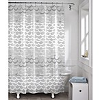 Maytex Waves PEVA Shower Curtain in White and Silver