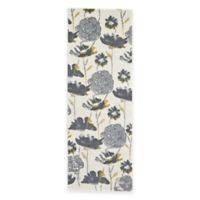 Feizy Farrell Floral 2-Foot 10-Inch x 7-Foot 10-Inch Runner in Grey/Yellow