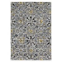Feizy Farrell Tiles 2-Foot 2-Inch x 4-Foot Accent Rug in Grey/Yellow