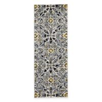 Feizy Farrell Tiles 2-Foot 10-Inch x 7-Foot 10-Inch Runner in Grey/Yellow