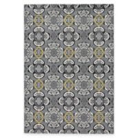 Feizy Farrell Madeline 2-Foot 2-Inch x 4-Foot Accent Rug in Grey/Yellow