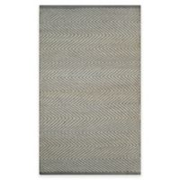 Natural Herringbone 2-Foot 3-Inch x 3-Foot 9-Inch Accent Rug in Grey