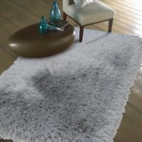 Mohawk Home Juliet Metallic 2-Foot 6-Inch x 3-Foot 10-Inch Shag Accent Rug in Silver