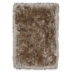 Mohawk Home® Juliet Metallic 2-Foot 6-Inch x 3-Foot 10-Inch Shag Accent Rug in Taupe
