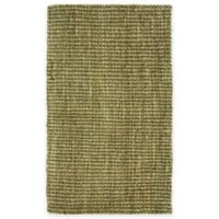 Bacova Tiger Eye Jute Loop 2-Foot 4-Inch x 3-Foot 10-Inch Indoor/Outdoor Accent Rug in Natural